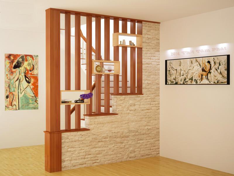 Vách ngăn cầu thang và phòng bếp 3