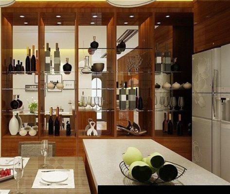 vách ngăn phòng khách với bếp 4