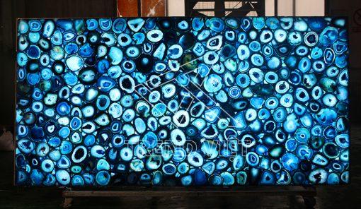 Đá Agate xuyên sáng - màu xanh dương