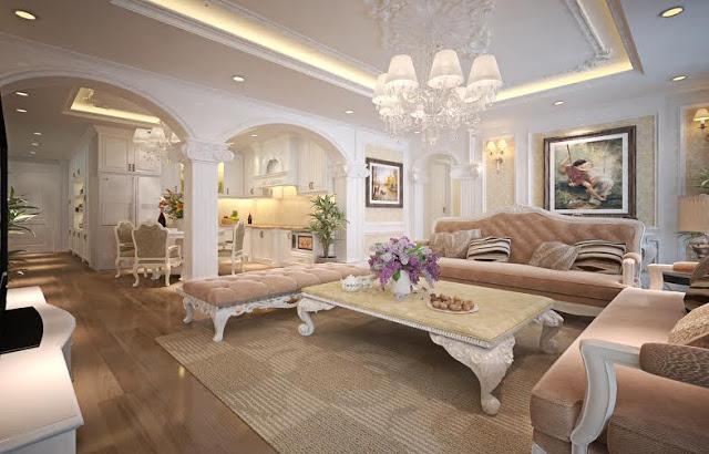 trang trí nội thất phòng khách nhà cấp 4 2