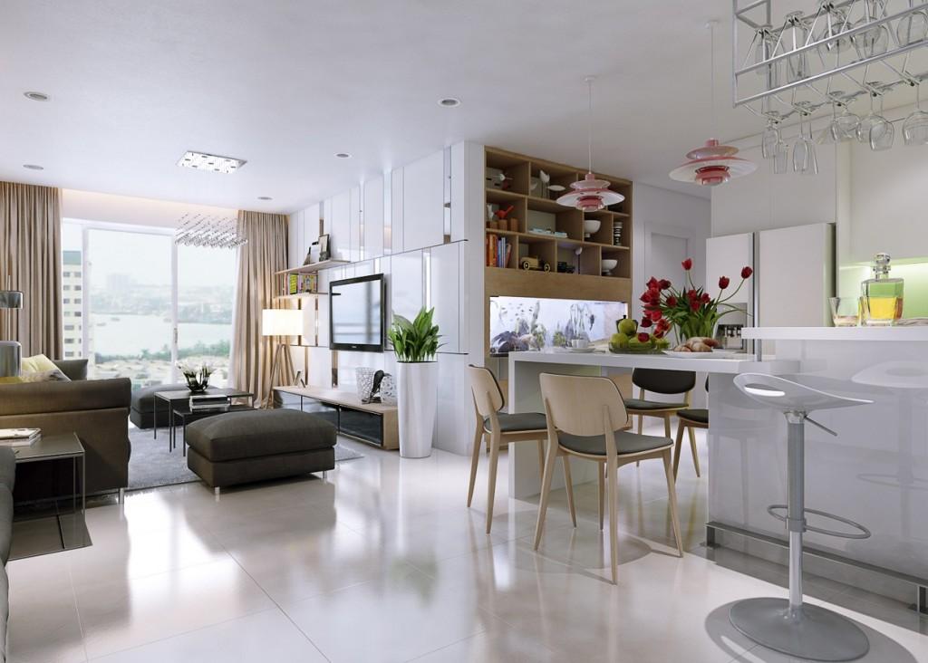 phong cách thiết kế nội thất tối giản 2