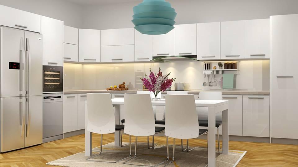 Thiết kế nội thất phòng bếp chung cư 3