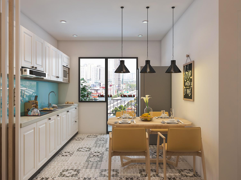 Thiết kế nội thất phòng bếp chung cư 5