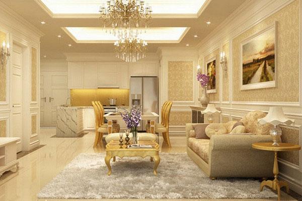 TThiết kế nội thất phòng khách nhà ống 2