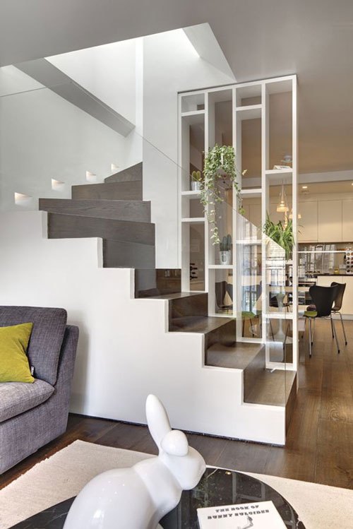 Vách ngăn cầu thang bằng gỗ 3
