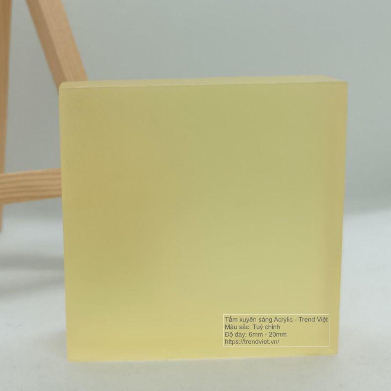 Tấm Acrylic xuyên sáng Trend Viet yellow 2