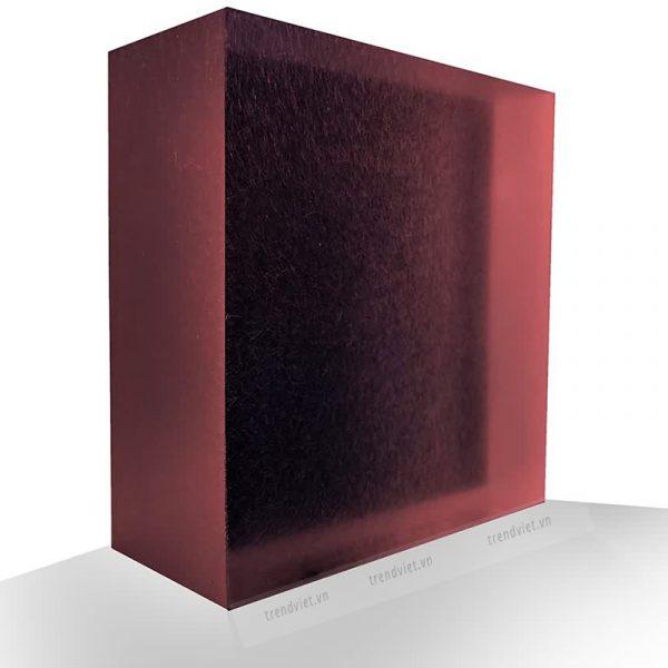 Tấm Resin xuyên sáng RB01 red black