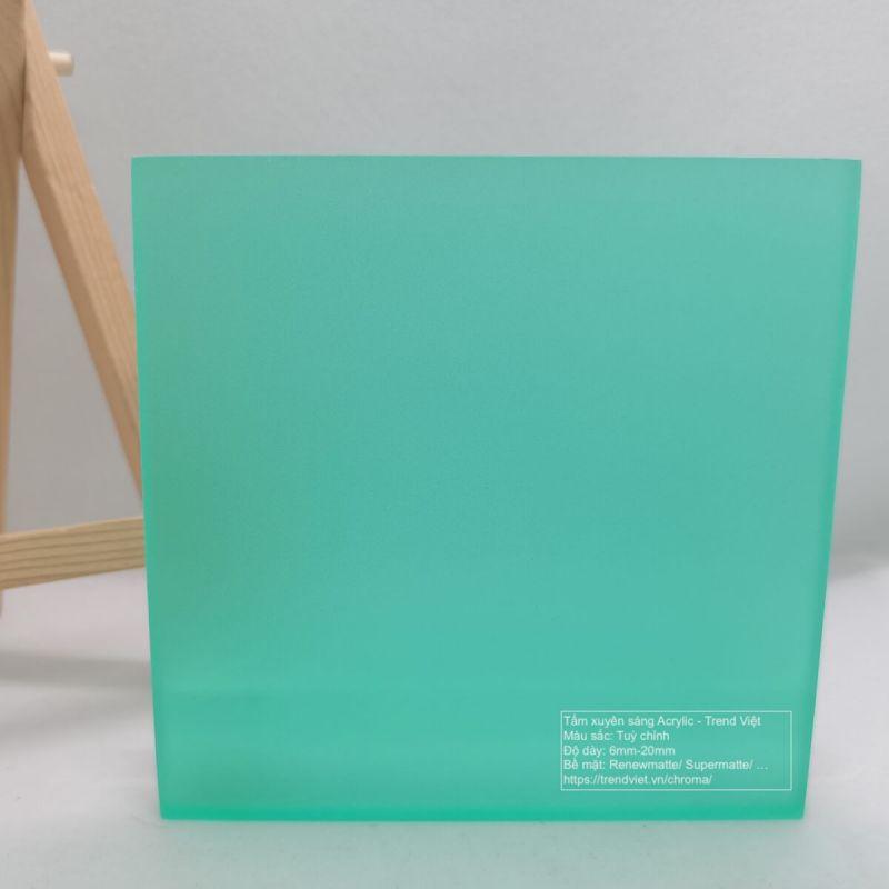 Tấm xuyên sáng Acrylic green 1