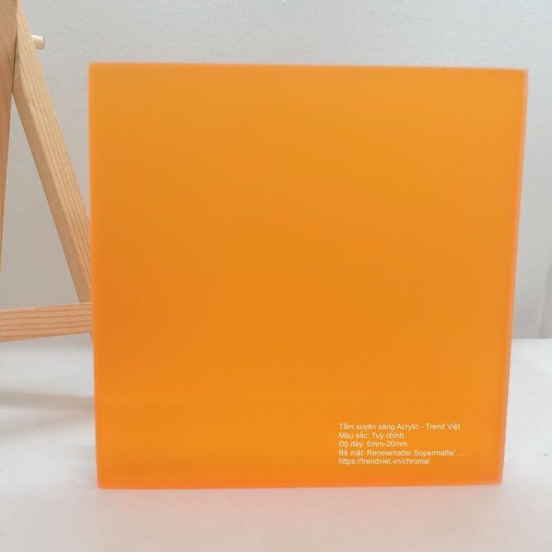 Tấm xuyên sáng Acrylic orange 2