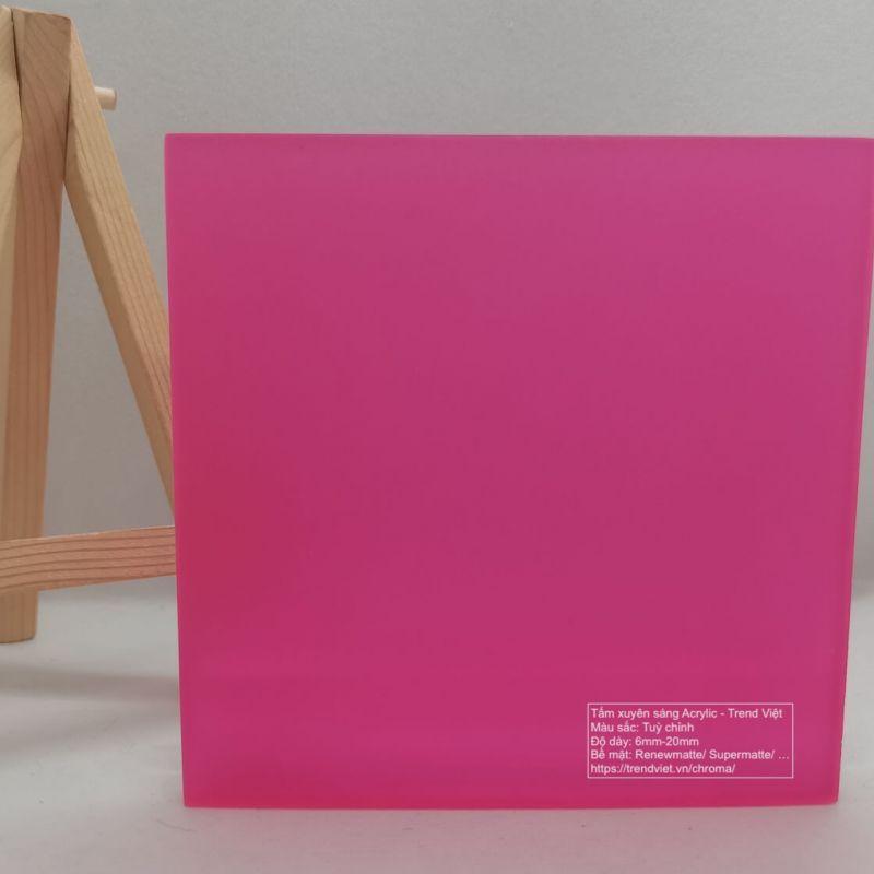 Tấm xuyên sáng Acrylic pink 1
