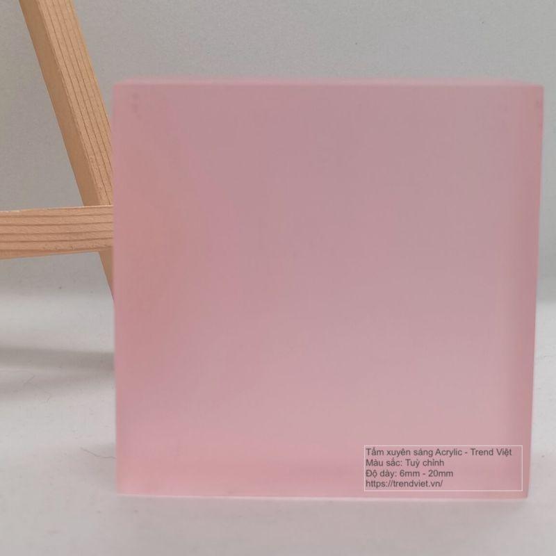Tấm xuyên sáng Acrylic pink 2