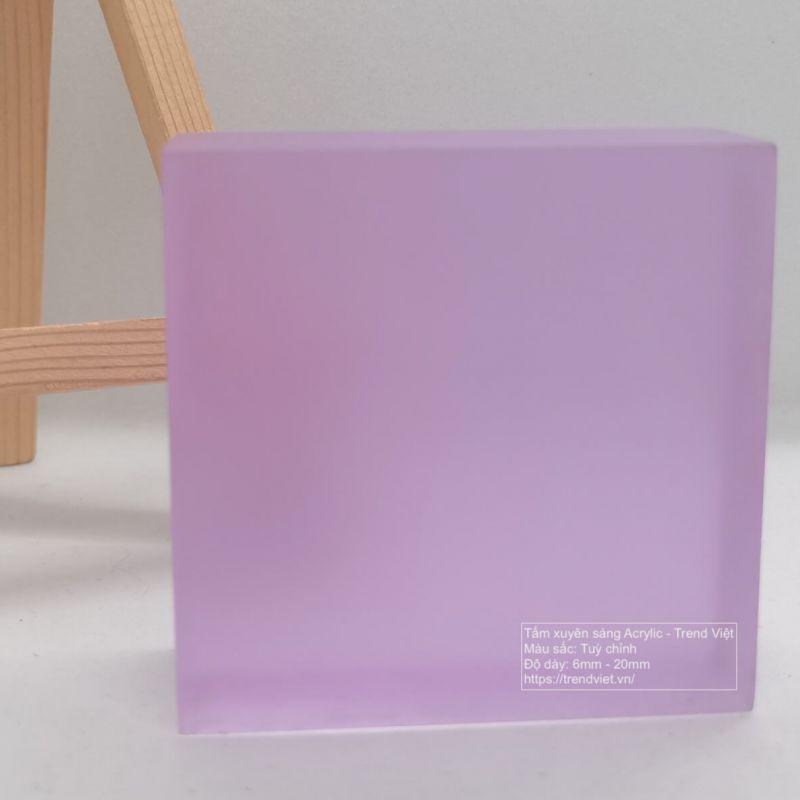 Tấm xuyên sáng Acrylic purple rose